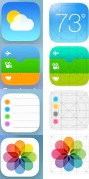icons ios7 naast elkaar