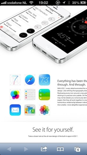 website apple iconen ios7