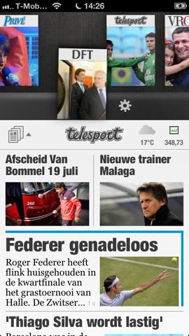 De Telegraaf HD katernen wisselen