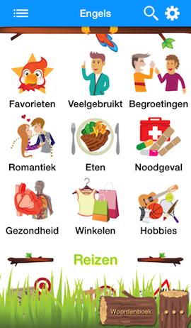 Taalgids iOS hoofdscherm