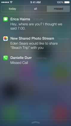 Gemiste notificaties iOS 7