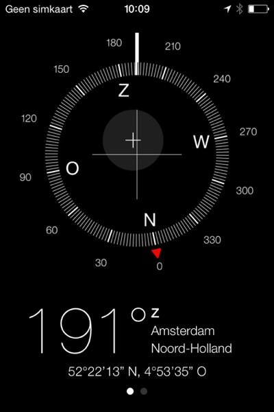kompas iphone ios 7