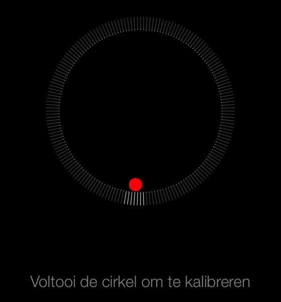 kompas kalibreren cirkel ios 7
