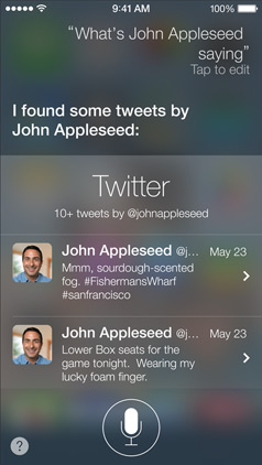 iOS 7 Siri Twitter