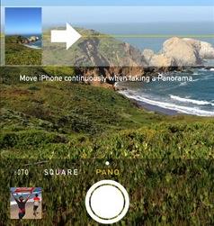 iOS 7 panorama