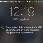 'Onofficiële laders en kabels kunnen iPhone beschadigen'