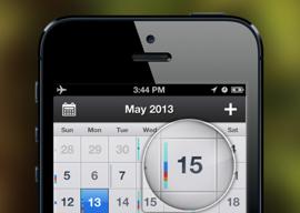 Pocket Calendar iPhone agenda header