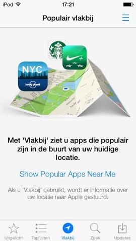app store vlakbij 1
