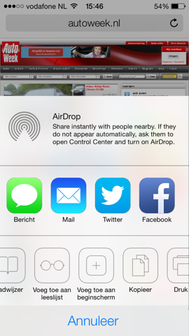 Safari iOS 7 delen
