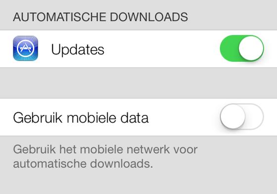 iOS 7 - automatische updates
