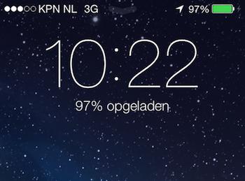iOS 7 ontgrendelscherm