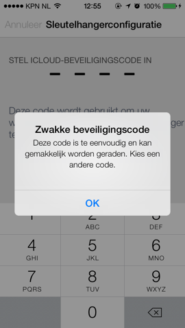 Apple apps iCloud sleutelhanger