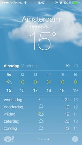 iOS 7 apps weerbericht