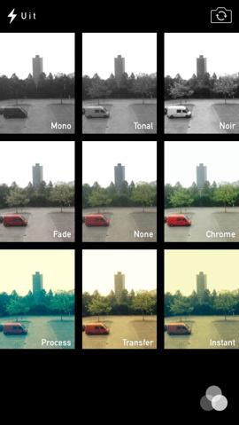 iOS 7 kleurenfilters