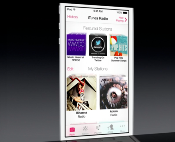 iTunes Radio screenshot