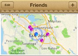 Apple-apps Zoek Mijn Vrienden