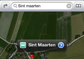 Apple-apps Kaarten iPhone