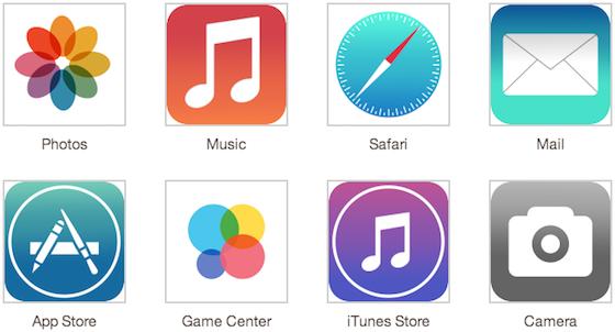 App-iconen iOS 7