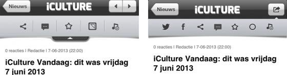 iCulture-app 1.3: nieuw artikelmenu