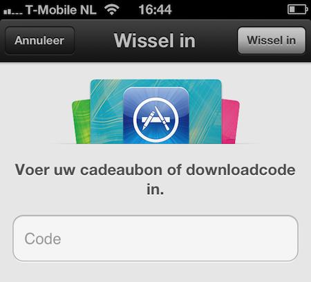 App Store promocode