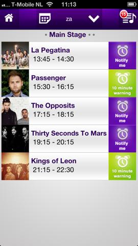 LineApp programma Pinkpop festival