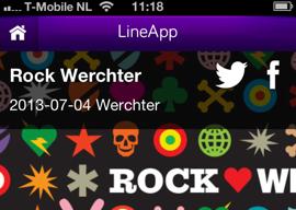 LineApp Rock Werchter iPhone