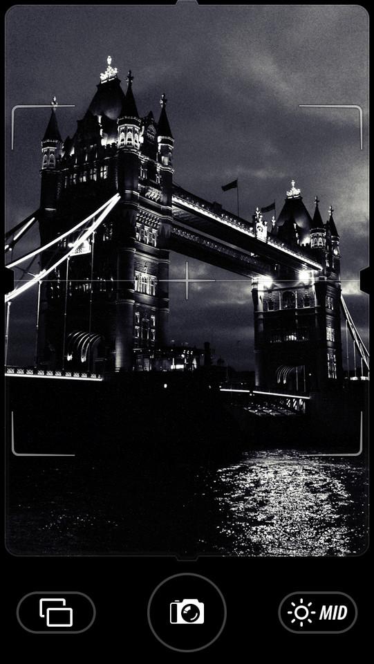 Camera Noir voorbeeldfoto Londen