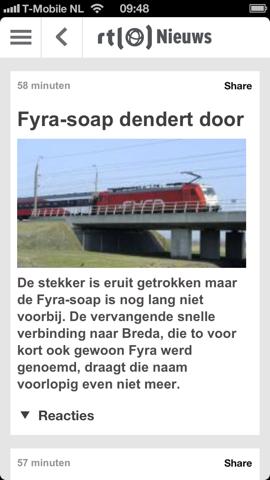 RTL Nieuws mobile bericht Fyra
