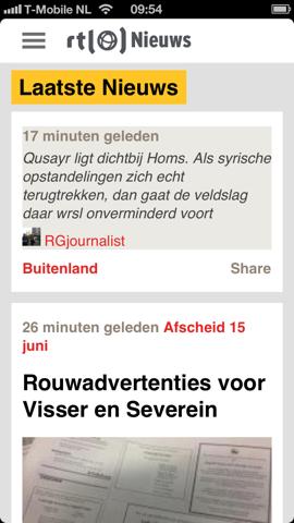 RTL Nieuws iPhone Nieuwswall