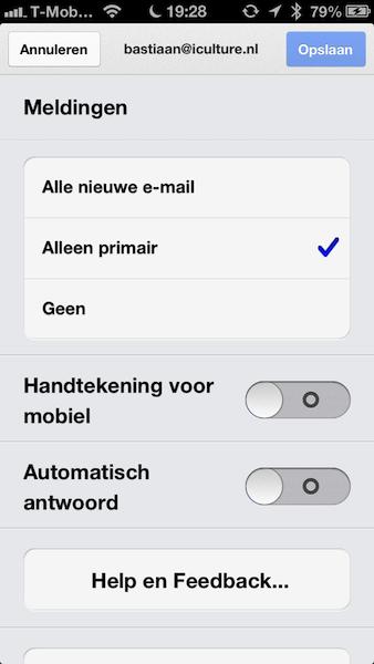 Gmail meldingen