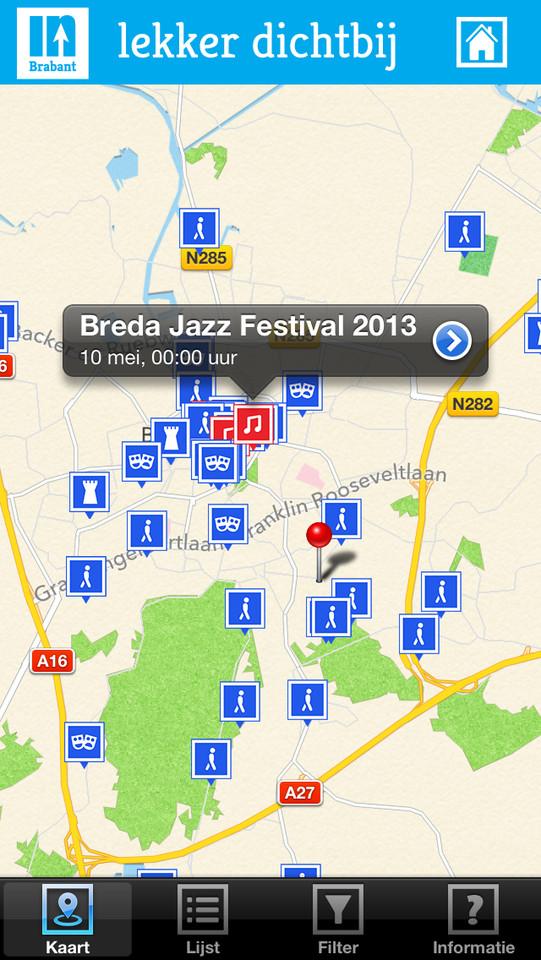 inBrabant evenementen op kaart