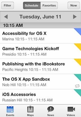 WWDC 2013 app screenshot