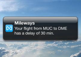 Mileways iPhone sociaal vliegnetwerk