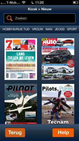 Magzine Kiosk iPhone-app