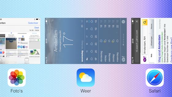 iOS 7 multitasking landscape