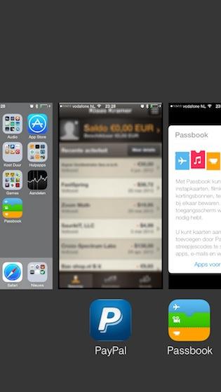 iOS 7 multitasking onscherp