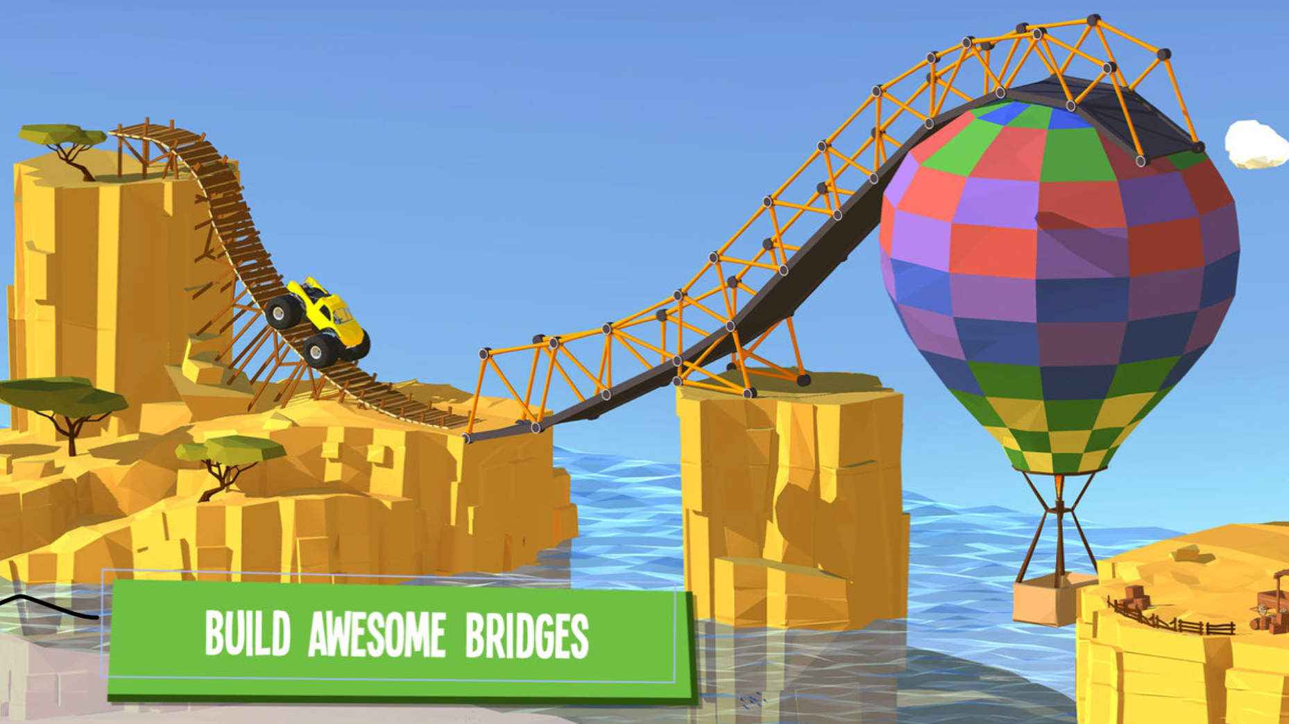 Vakantiegames: build a bridge