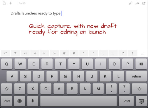 Drafts screenshot