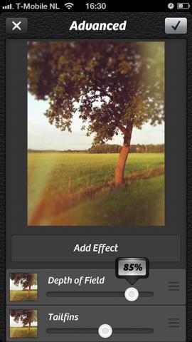 Camera Plus meerdere filters bewerken