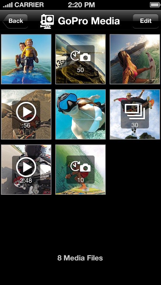 GoPro filmpjes vanaf de camera iPhone