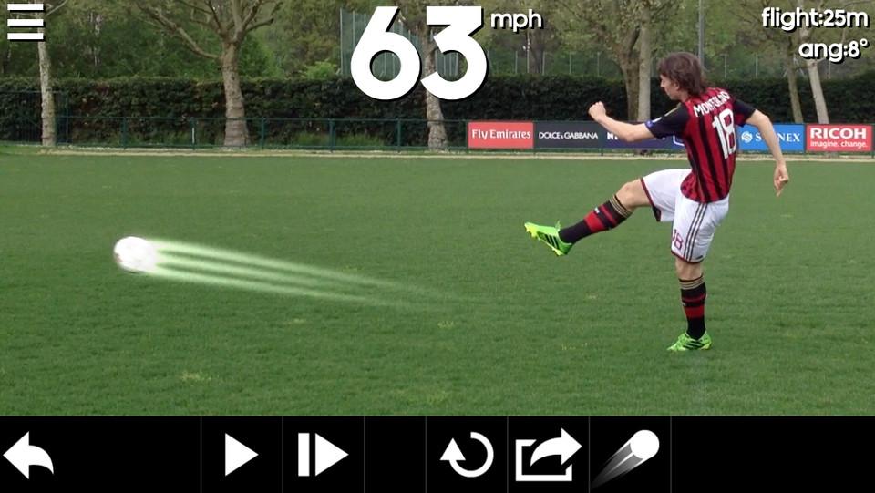 Adidas Snapshot bal trappen schotkracht berekenen