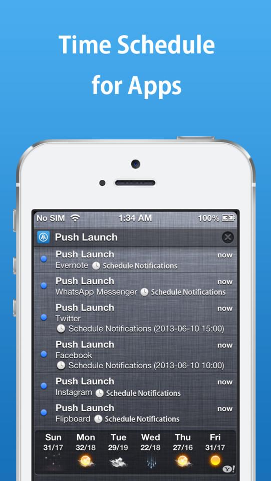 Push Launcher pushberichten ontvangen