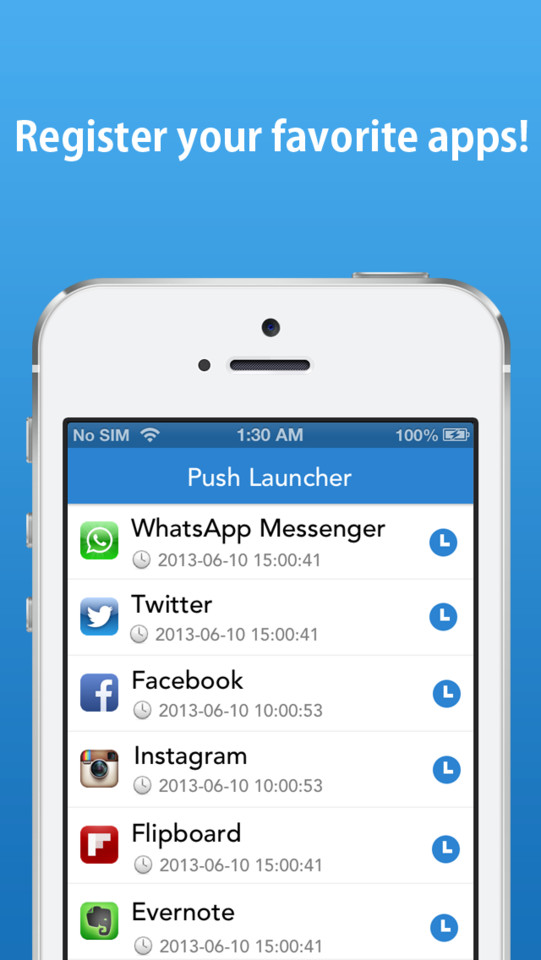 Push Launcher applicaties met pushberichten