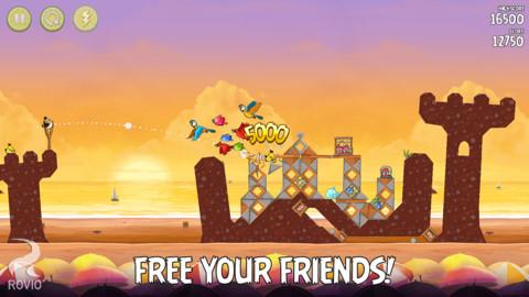 Angry Birds Rio zandkasteel nieuwe levels