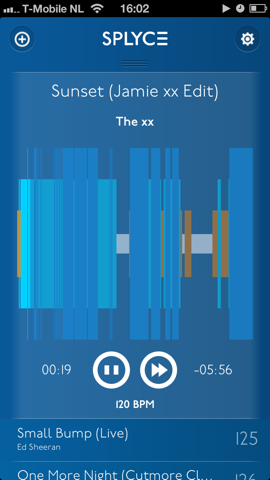 Splyce speler in het blauw