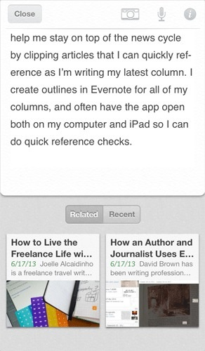 evernote related