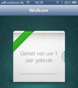 whatsapp 1 jaar