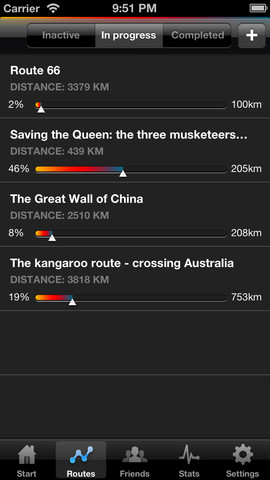 milekeeper iphone routes