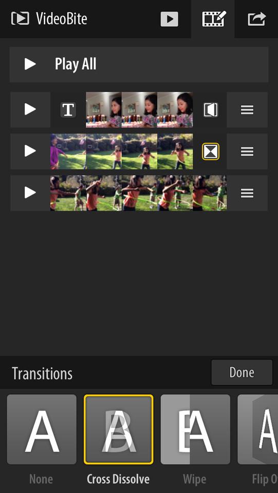 Adobe VideoBite monteren met transities