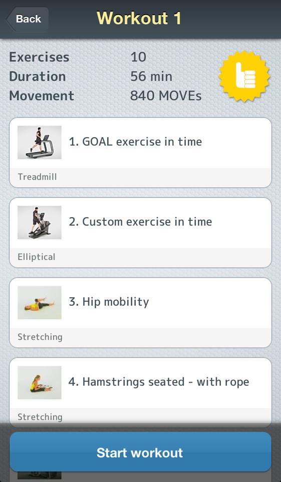 Mywellness workout trainingen